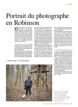 Portrait du photographe en Robinson