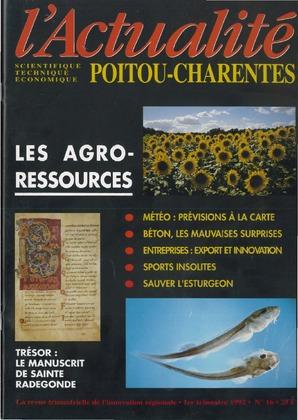 L'Actualité scientifique, technique, économique Poitou-Charentes n° 16